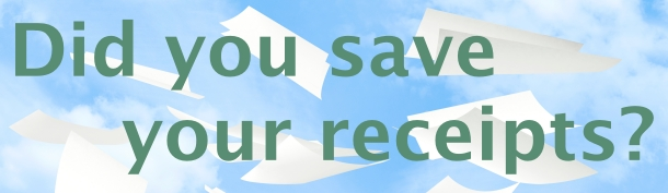 Did you save your receipts?